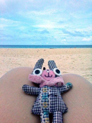 bunneh on the beach