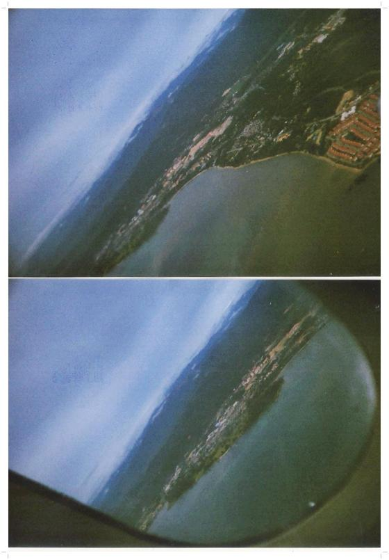 first view of KK from the plane