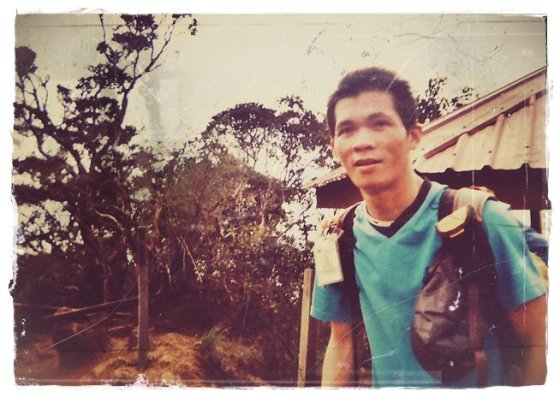 Safrey leading the way to Laban Rata