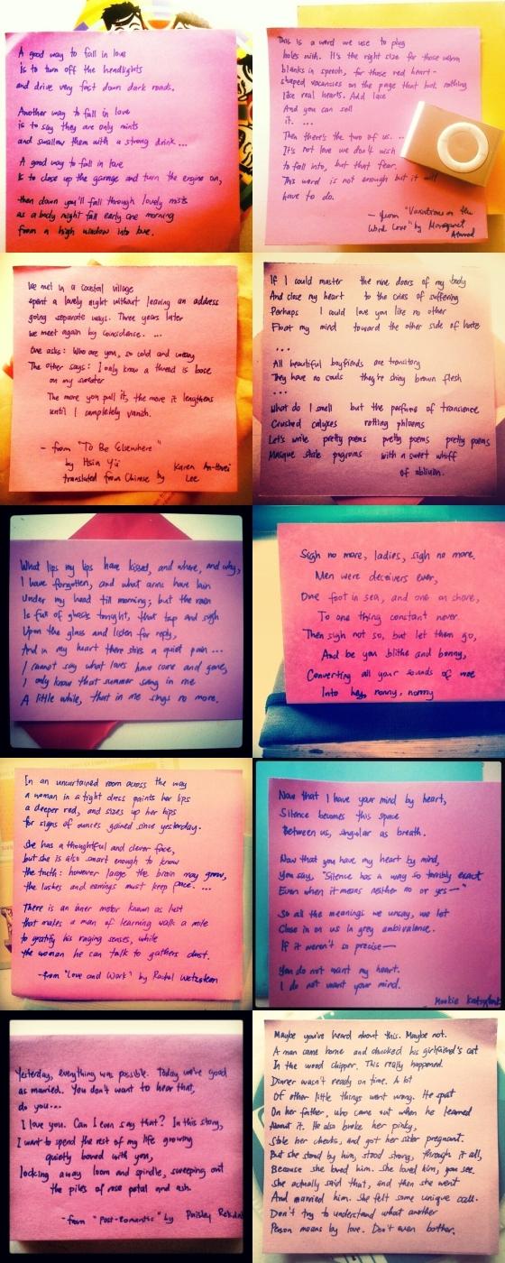 tiled poems